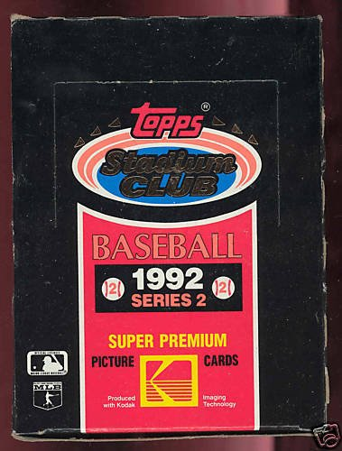 1992 Topps Stadium (1992 Topps Stadium Club Baseball Wax Pack Box Series 2 Set)