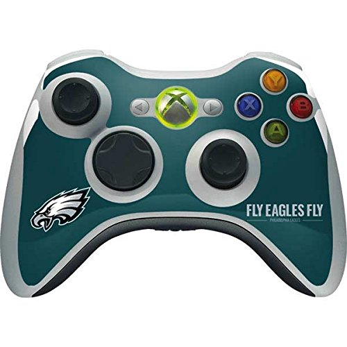 Skinit NFL Philadelphia Eagles Xbox 360 Wireless Controller Skin - Philadelphia Eagles Team Motto Design - Ultra Thin, Lightweight Vinyl Decal Protection