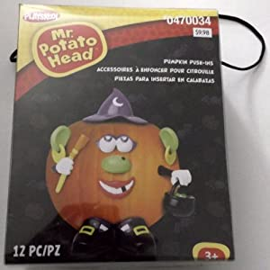 gemmy plastic pumpkin push in decorating kits tabletop halloween decoration