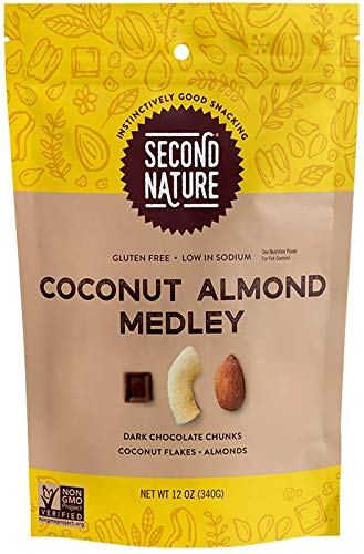 Second Nature Coconut Almond Medley Trail Mix - Healthy Nuts Snack - 12 oz Resealable Pouch (Pack of 6)