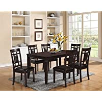 ACME Furniture 71955 Sonata 7 Piece Espresso Dining Set