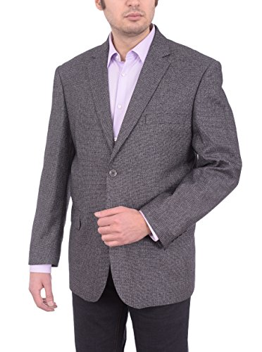 c Fit Charcoal Gray Basket Weave Two Button Blazer Sportcoat (Basket Weave Charcoal)