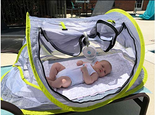 Wayfinder TravelTot UV Protection w//Mosquito Net and 2 Pegs Baby Travel Tent Portable Baby Travel Bed Indoor /& Outdoor Travel Crib Baby Beach Tent UPF 50