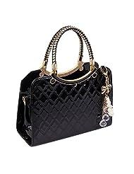 JINying PU Leather Womens Shoulder Bags Top-Handle Handbag Tote Purse Bag