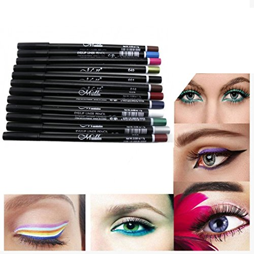 Kemilove 12 Colors Eyebrow Glitter Shadow Lip EyeLiner Penci