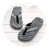 Ablaze Jin mens slippers Comfortable Massage Flip Flops Sandals Male Slipper Indoor Outdoor Flip-Flops Casual Beach Shoes2,Blue,7