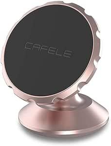 Mobile Phone Holder 360 Degree Rotating in Car Magnetic Mobile Holder  Stand (Gold Rose)