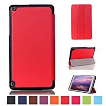 NVIDIA SHIELD Tablet K1 Cover,NVIDIA Shield Case,Leather Stand Case Folio Cover for 2015 Nvidia Shield K1 8.0-Inch Tablet/2014 NVIDIA Shield 2 Tablet 8-Inch-Red