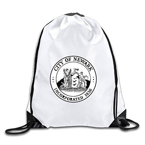 (Seal Of Newark NJ Drawstring Backpack Bag Gym Sack)