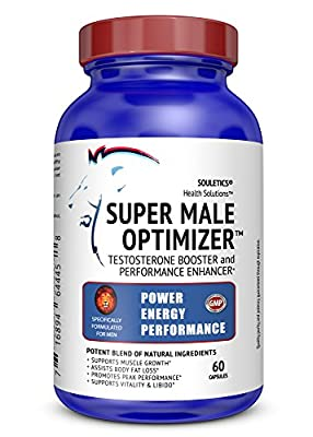 Super Male Optimizer Multivitamin Testosterone Booster Supplement with Ashwagandha Sports Nutrition Supplement With Herbals, Trace Minerals Like Boron, Zinc and Withania Somnifera, 60 Capsules