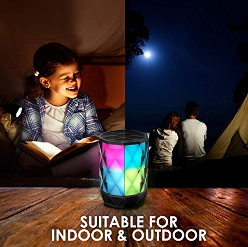 Portable Bluetooth Speakers With Lights, SHAVA Diamond Wireless LED speaker with auto color changing, Speakerphone with TWS feature for Bluetooth Speakers Light Up, great for party, gifts and presents