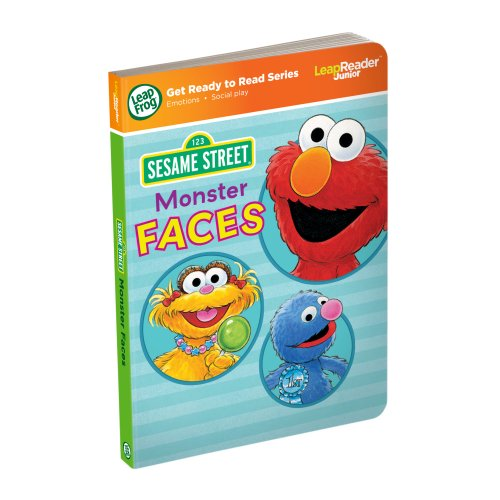 - LeapFrog LeapReader Junior Book: Sesame Street Monster Faces (works with Tag Junior)