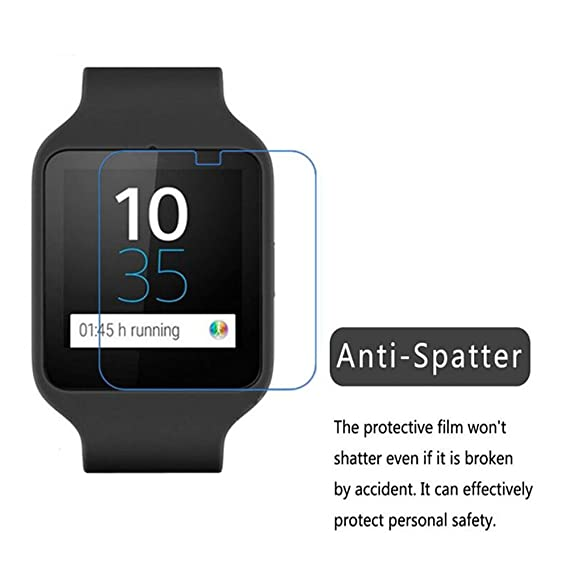 Para Sony Mobile SWR50 SmartWatch 3 Protector de pantalla (paquete de 5), iFeeker Cobertura total TPU Premium HD Film transparente Ultra High ...