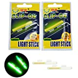 thkfish Fishing Glow Sticks Rod Tip Glow Sticks Fishing Rod Floats Glow Sticks Fishing Rod Night Fishing Light Fishing Green Fluorescent Light 20pcs(10bags) #M