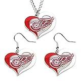 Detroit Red Wings Swirl Heart
