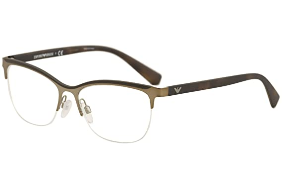 d0007f1923b Image Unavailable. Image not available for. Color  Emporio Armani  Eyeglasses EA1068 EA 1068 3201 Matte Bronze Optical Frame 53mm