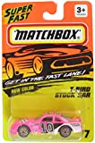 Matchbox Get in the Fast Lane New Color - Pink T-bird Stock Car #7
