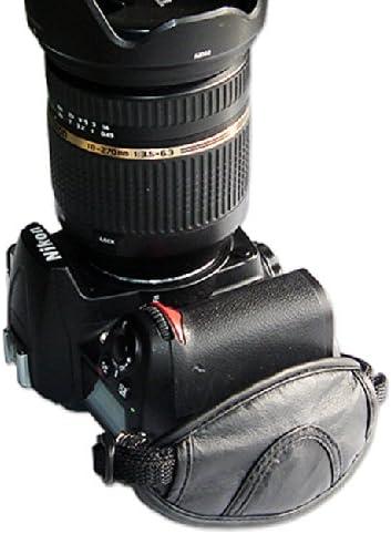 first2savvv OSH0201 new Artificial leather digital camera SLR hand strap grip for Nikon D800 D800E D3200 D4 D600 with UV lens filter protection bag case