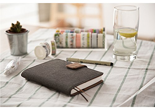 Kinbor Soft Cover Original A6 Journal Agenda Schedule Pocket Notebook Daily Planner Personal Organizer for Time Management, Goal Setting, Productivity& Happiness, Oxford Grey