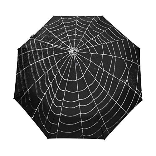 Naanle Happy Halloween Spider Web Auto Open Close Foldable Windproof Travel Umbrella for $<!--$31.99-->