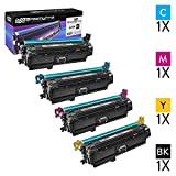 Speedy Inks Remanufactured Toner Cartridge Replacement forHP 649X (1 Black, 1 Cyan, 1 Magenta, 1 Yellow, 4-Pack)