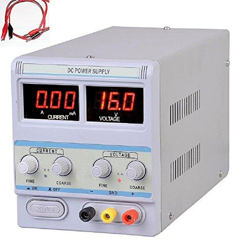 Precision Variable Dc Power Supply W Clip Cable Digital Adjustable 30V 5A 110V