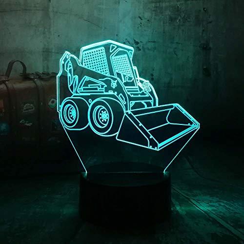 HIOJDWA Luz nocturna Amroe Cool 3D Led Luz de Noche Lámpara de Escritorio Carretilla elevadora Coche Usb Rgb Touch 7 Cambio...