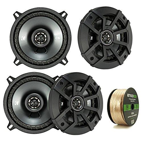 Car Speaker Package Of 4x Kicker 43CSC5 450-Watt 5-1/4