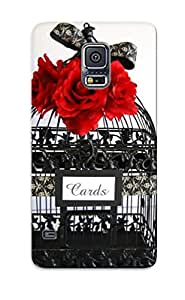 Galaxy S5 Hard Back With Bumper Silicone Gel Tpu Case Cover For Lover's Gift An Old Bird Cage