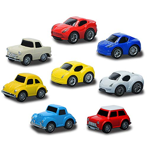Pull Back Cars Vehicles Set 8 PCS Mini Car Model Construction with Racing Vintage Car for Children Gift - Mini Pull
