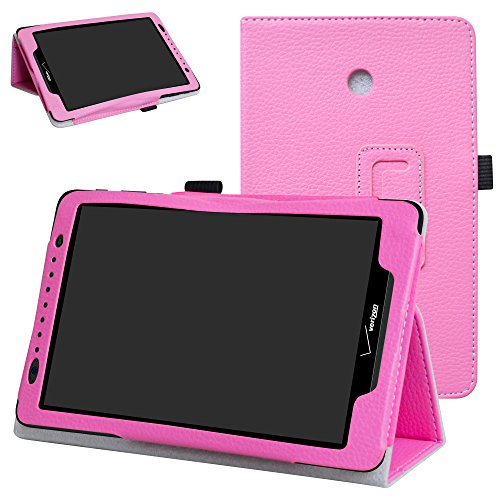 Ellipsis 8 / Ellipsis Kids 2015 Case,Mama Mouth Slim Folio 2-Folding Stand Case Cover for 8 Verizon Ellipsis 8 4G LTE/Ellipsis Kids QTAQZ3KID 2015 Android Tablet,Pink