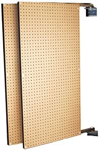 Triton Products B1-2 Two XtraWall Wall Mount Double-Sided Swing Panel Pegboard 24 Inch W x 48 Inch H x 1-1/2 Inch D