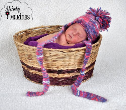 Earflap Hat Knitting Pattern - Garter Stitch Earflap Hat Knitting Pattern - All Sizes Newborn Through Adult Included