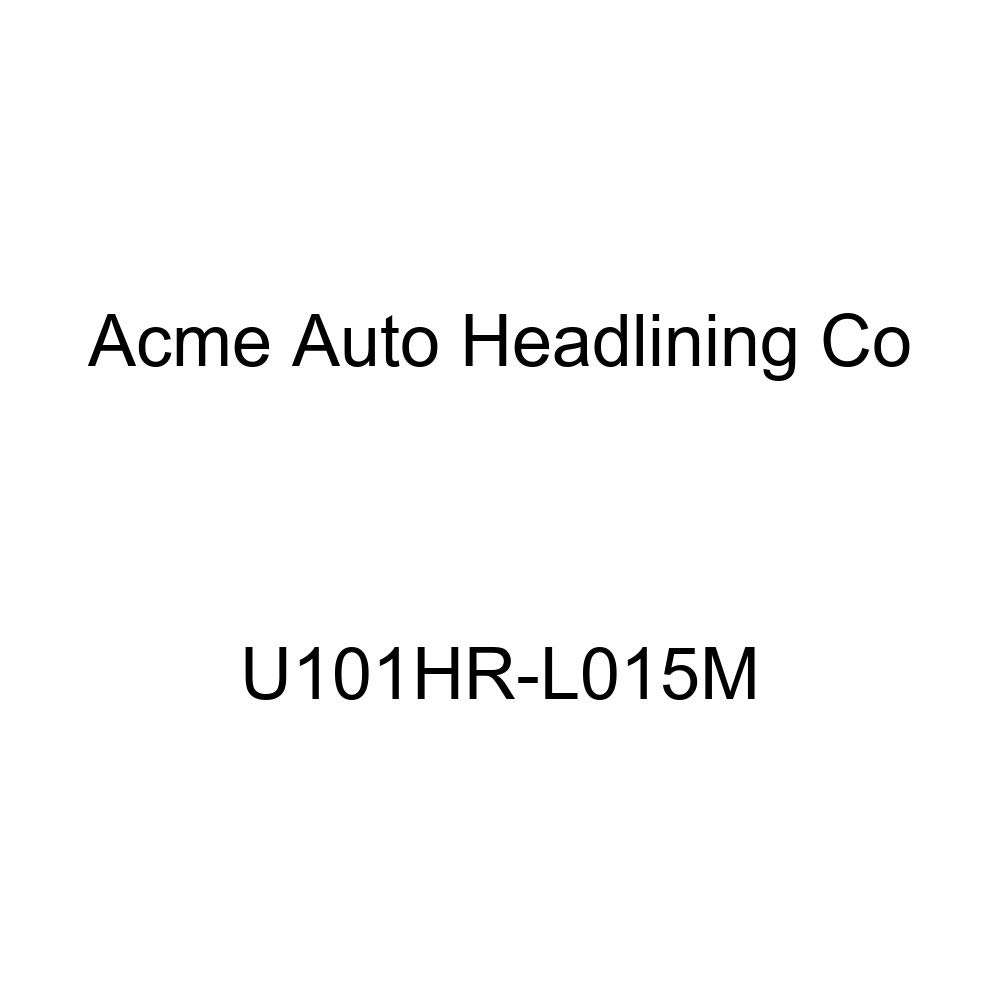 Acme U101HR-L015M Front Light Blue Vinyl Bench Seat Upholstery with Blue Velour Inserts and Headrest Cover