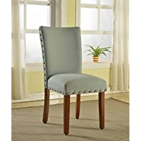 Metro Shop Sea Foam Nail Head Parsons Chairs (Set of 2)