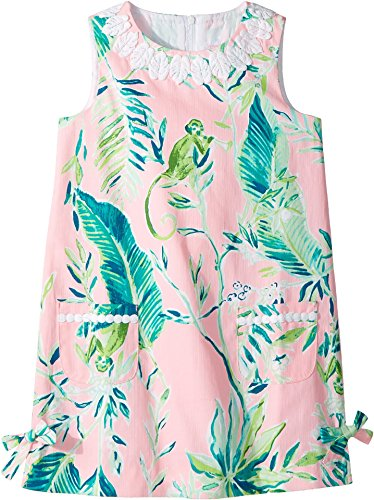 Lilly Pulitzer Kids Baby Girl's Little Lilly Classic Shift Dress (Toddler/Little Kids/Big Kids) Coral Reef Tint Chimpoiserie 4 US Little Kid -