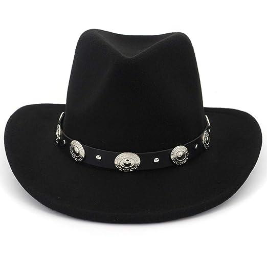 Lisianthus Men   Women s Felt Wide Brim Western Cowboy Hat Black at ... e620b05b2b0a