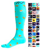 Compression Socks (1 pair) for Women & Men by A-Swift - Graduated Athletic Fit for Running, Nurses, Flight Travel, Skiing & Maternity Pregnancy - Boost Stamina & Recovery (Chicks, L/XL)