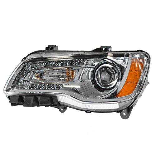 Headlight Headlamp Halogen Chrome Bezel Driver Side Left for 11-14 Chrysler 300