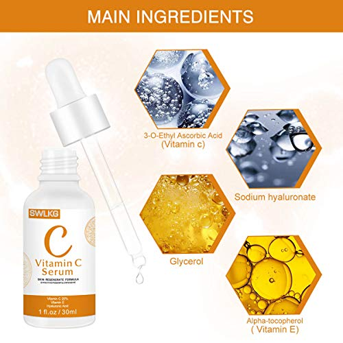 511JLJupk2L - Vitamin C Serum with Hyaluronic Acid and Vitamin E Anti-Aging Moisturizing Face Serum for All Skin