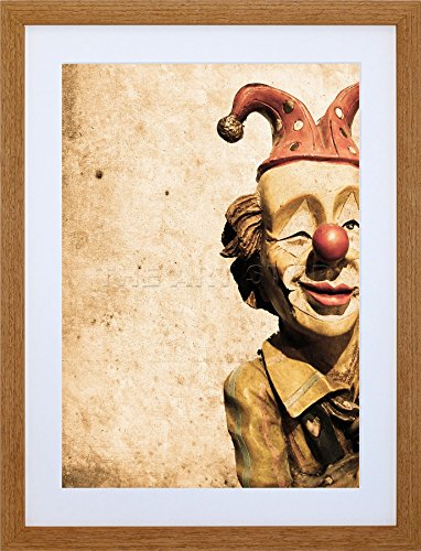 9x7 '' CLOWN MODEL DOLL CIRCUS FRAMED ART PRINT PICTURE MOUNT PHOTO F97X637