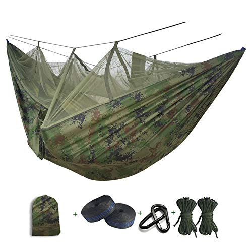 - Ultralight Mosquito Net Parachute Hammock with Anti-Mosquito Bites for Outdoor Camping Tent Using Sleeping,Camo