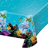 Arts & Crafts : Creative Converting Ocean Party Plastic Table Cover, 54 by 108-Inch