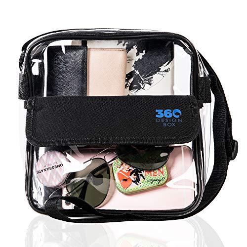 360 DESIGN BOX Clear Cross-Body Messenger Shoulder Bag 8