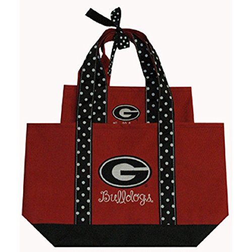 Game Day Outfitters University of Georgia Polka Dot Tote Set
