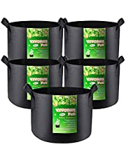 VIVOSUN 5-Pack Grow Bags Heavy Duty Thickened Nonwoven Fabric Pots with Handles