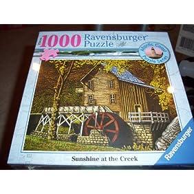 Ravensburger Sunshine At the Creek 1000 Piece Puzzle Atlantic Coast Puzzle Series