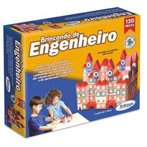 Brincando de Engenheiro 120 Peças, Xalingo, Multicor