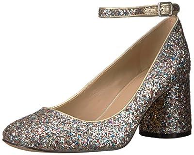 Amazon Brand - The Fix Women's Margot Block Heel Ankle Strap Pump