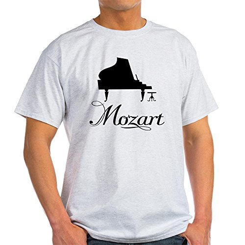 - CafePress Piano Mozart 100% Cotton T-Shirt Ash Grey
